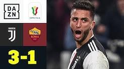 Juve überrollt Roma in erster Hälfte: Juventus - AS Rom 3:1   Coppa Italia   DAZN Highlights