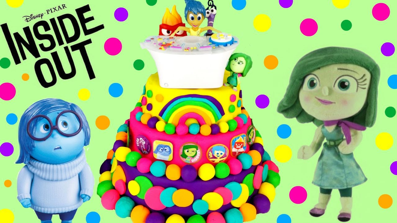 INSIDE OUT Play Doh Surprise Cake!! Mystery Mini! Blind Bags! Shopkins ...