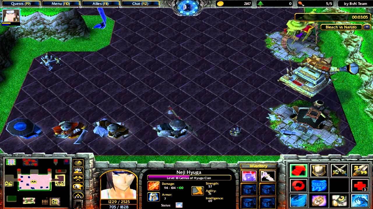 Warcraft III Gameplay Bleach Vs Naruto Kuro Yo Vs Ero