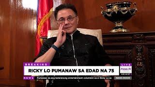 🔴 RICKY LO PUMANAW SA EDAD NA 75