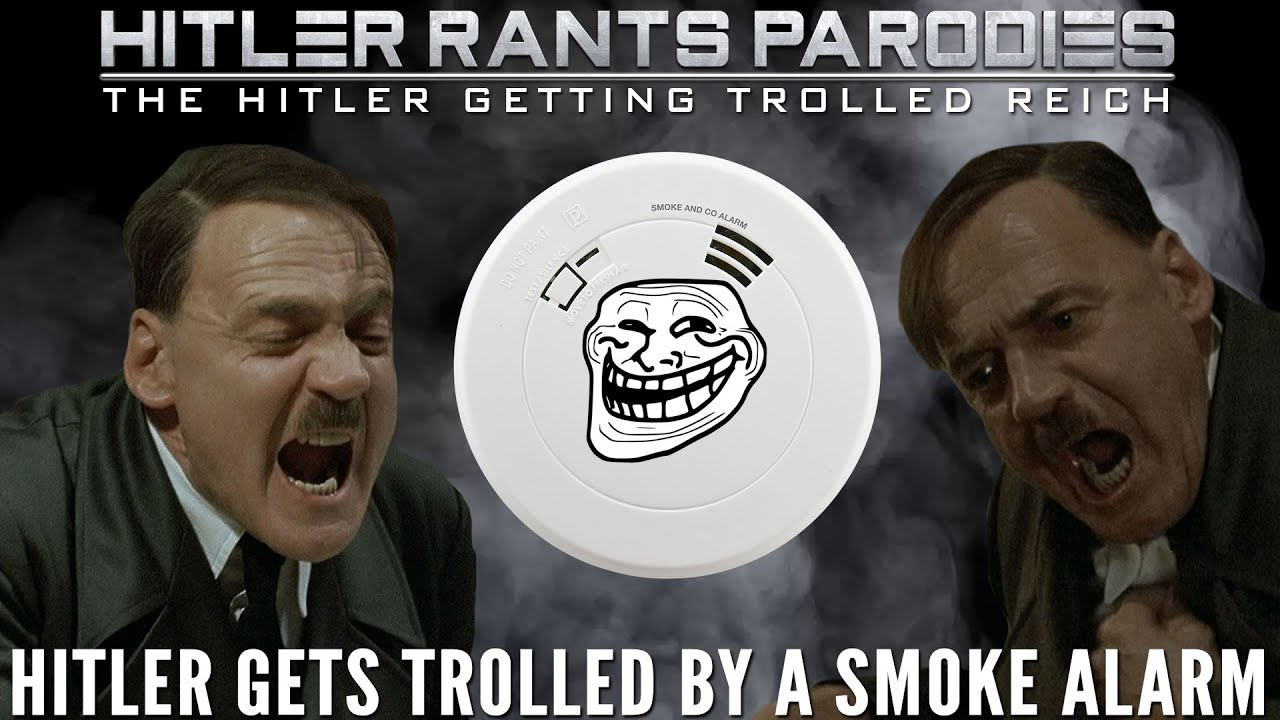 Hitler gets trolled by a smoke alarm