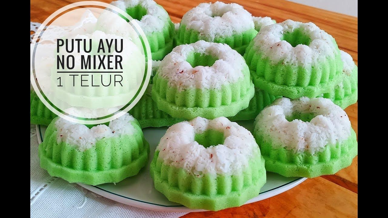 Resep Kue Putu Ayu Lembut Tanpa Mixer