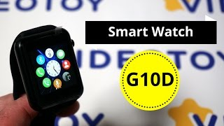Умные часы Smart Watch G10D - классические смарт часы, альтернатива Smartwatch GT08 - видео обзор.