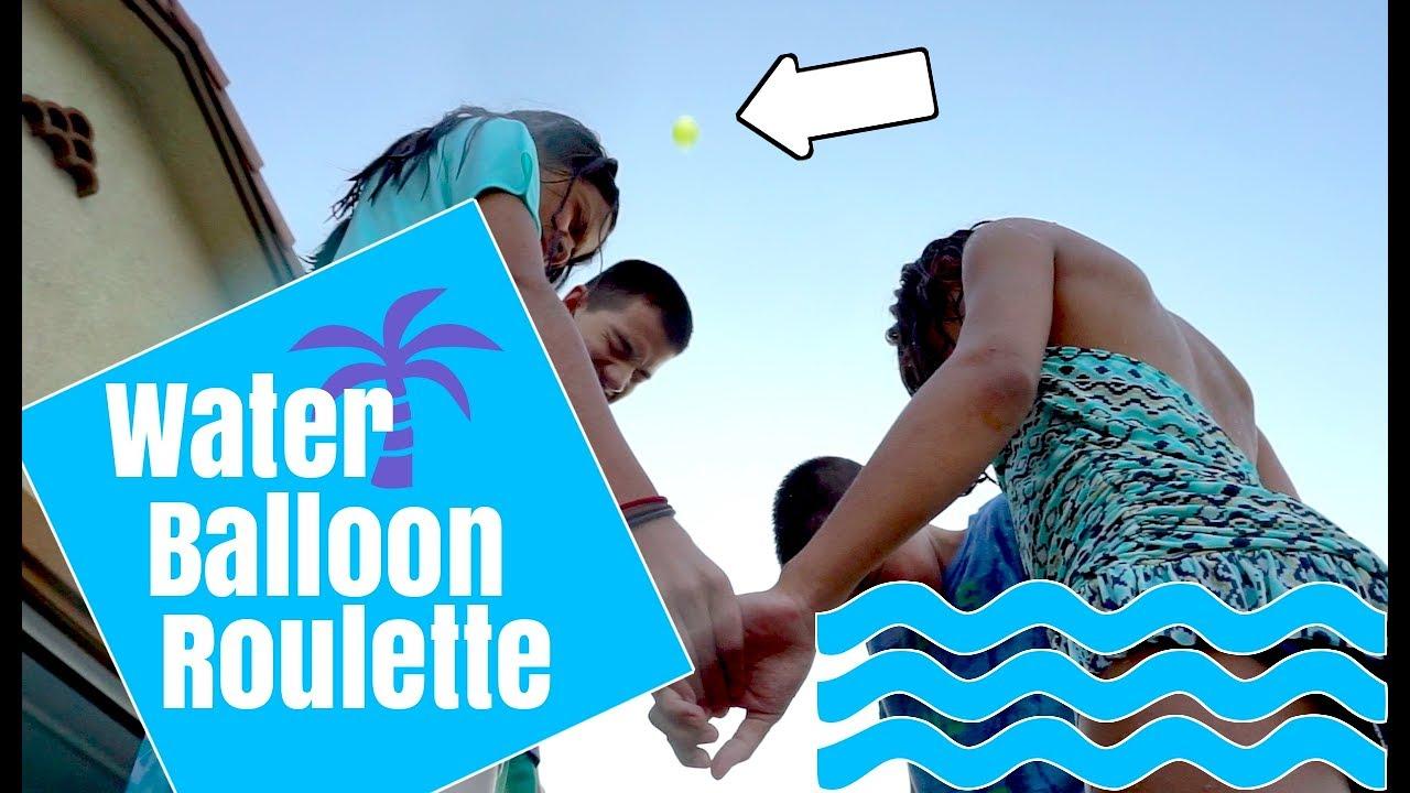 water balloon roulette fail