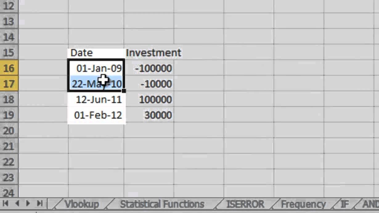 Finshiksha calculating portfolio returns using irr and xirr in finshiksha calculating portfolio returns using irr and xirr in excel alramifo Images
