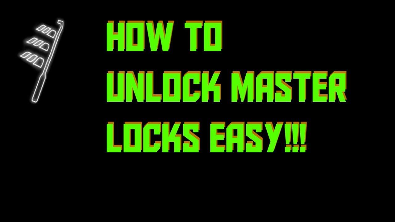 easy way to unlock master locks in skyrim