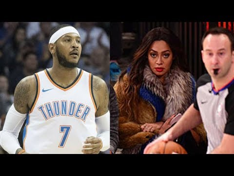 Carmelo Anthony's Wife La La Hits Him with a DEATH STARE During Return Game in New York