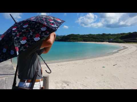"""Beautiful beaches in Japan"" Takasaki(高崎) beach in Fukue jima of GOTO islands (五島列島 福江島)(part 1)"