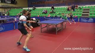 Boys doubles finale.Saint-Petersburg cadets table tennis сhampionship 2018.FHD