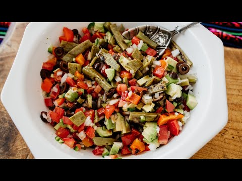 Ensalada de Nopales Asados (Grilled Cactus Salad)