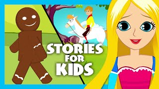 The Gingerbread Man and Rapunzel Story   English Story Compilation for Kids   Rapunzel Izle
