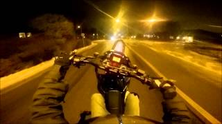 Yamaha DT50 First Day Wheelie Training || Big Fail || GoPro Hero 4 [HD]