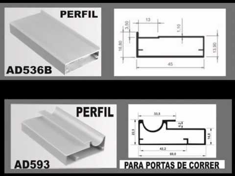 Porta de aluminio para moveis youtube - Perfiles de aluminio para armarios ...