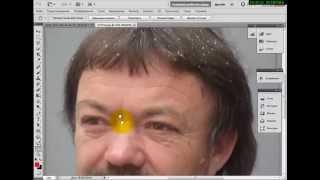 Удаление морщин, родинок и прыщей, омоложение лица в фотошоп