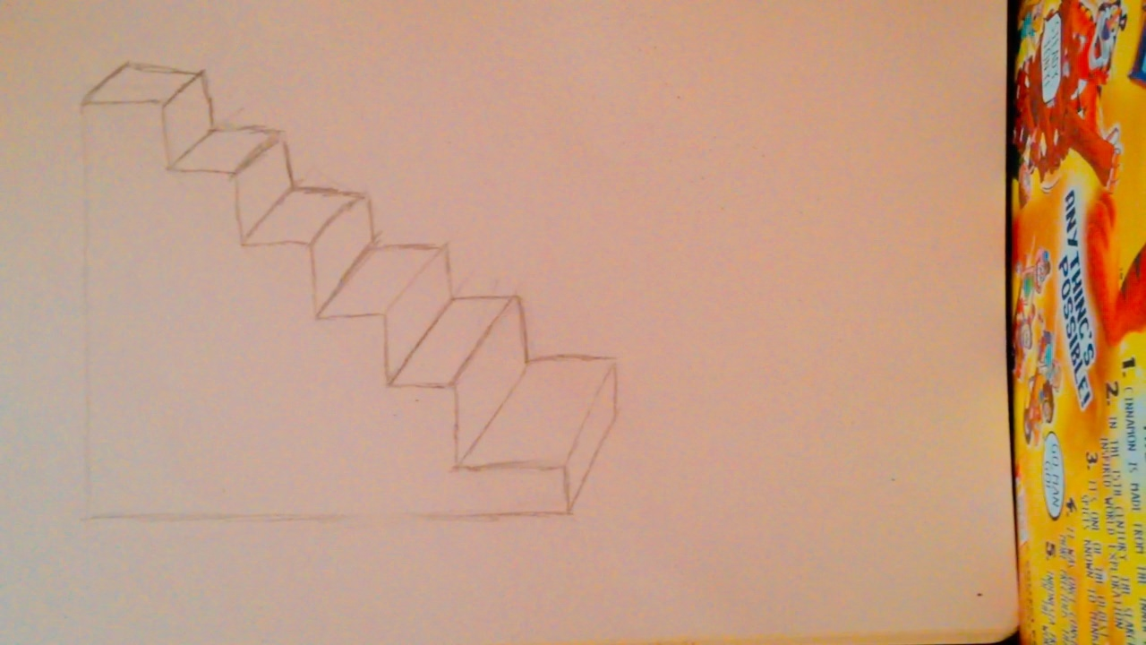How To Draw Stairs For Beginners Youtube