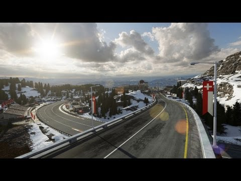 Forza 5 gameplay trailer races through the snow-covered Alps