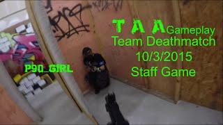 TAA Gameplay  - Staff Game 10/3/2015 [Tippmann M4]
