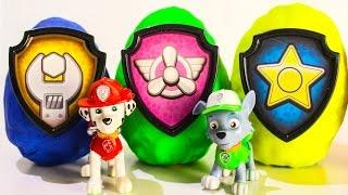 Щенячий патруль КИНДЕР СЮРПРИЗЫ мультики для малышей про игрушки Paw Patrol Видео для детей