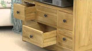Cairo Solid Oak Corner Tv Video Dvd Cabinet From Oak Furniture Land