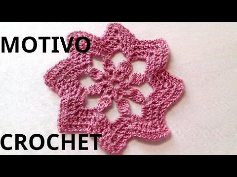 MOTIVO n° 4 en tejido #crochet o ganchillo tutorial paso a paso. Moda a Crochet