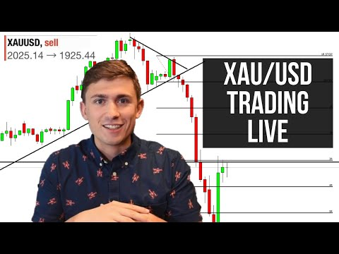 Craziest Gold Trade I've Taken: LIVE Forex Trading XAU/USD for +1075 Pips!