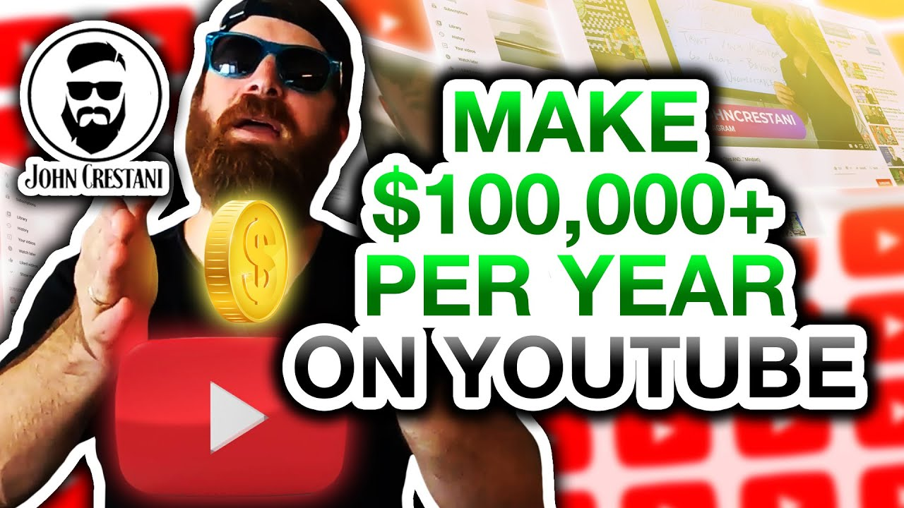 How To Make 6 Figures With YouTube By John Crestani