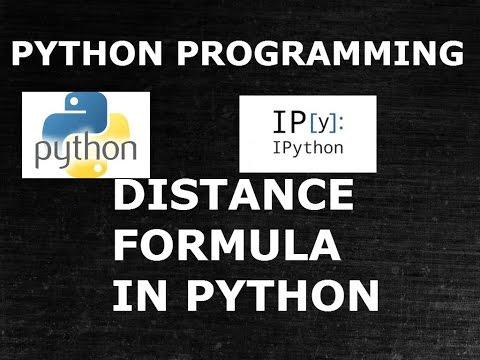 Python Function| Distance formula