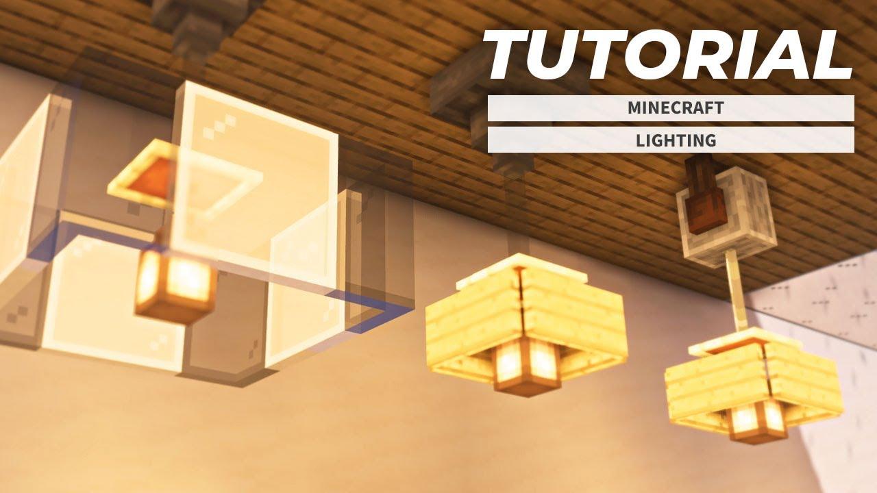 【マインクラフト】ランタンを使った照明の作り方(内装建築)