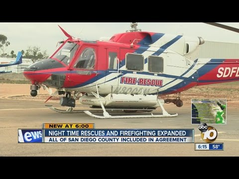 City to let firefighting helicopters make nighttime water drops on wildfires countywide