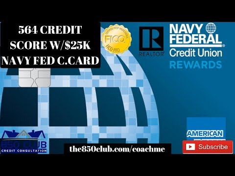 Approved For $25,000 Navy Federal Visa Credit Card W/564 FICO Credit Score