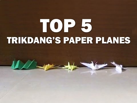 Blog #3: Top 5 Paper Airplanes Selected by Rahul