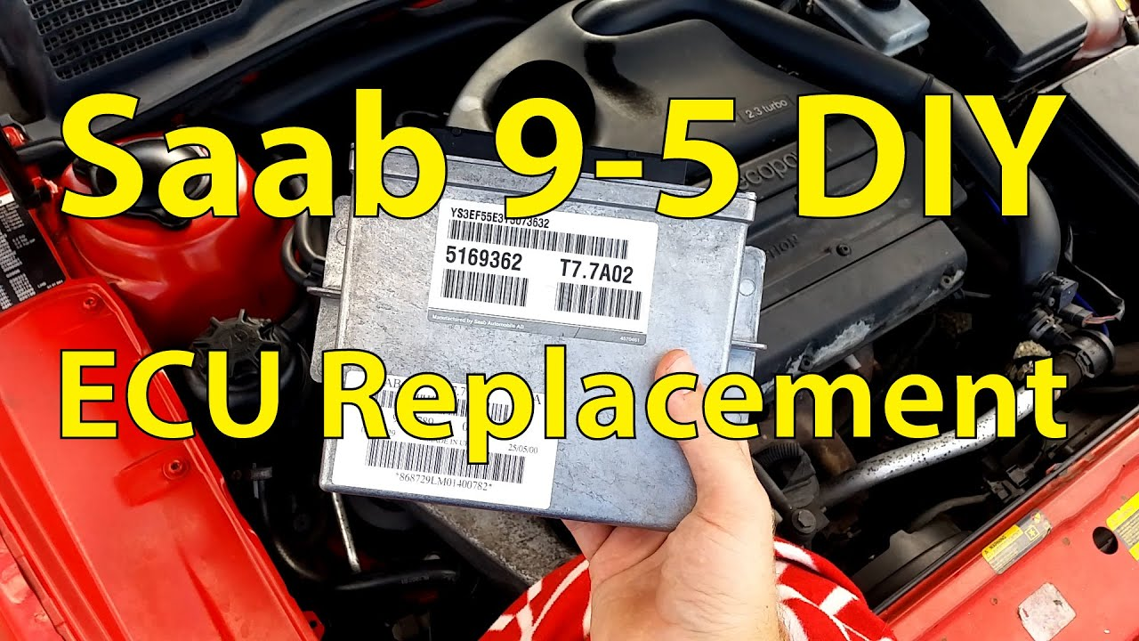 Saab 9 5 Diy Ecu Replacement Trionic Seven Youtube Dice Wiring Diagram