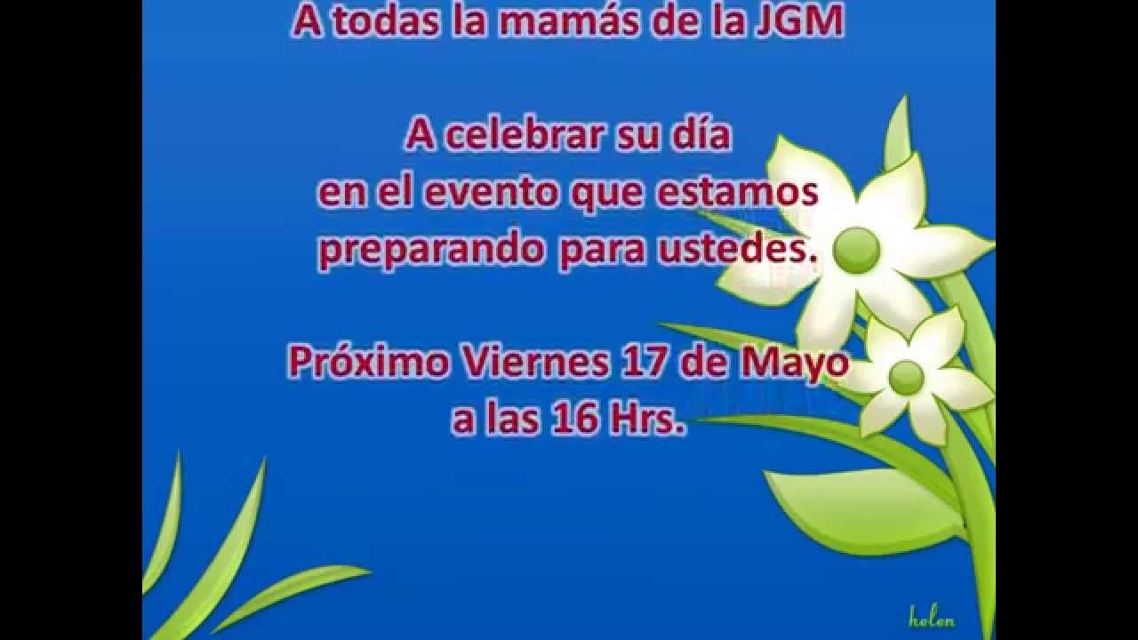 Invitación A Celebración Día De La Madre: INVITACION DIA DE LAS MADRES