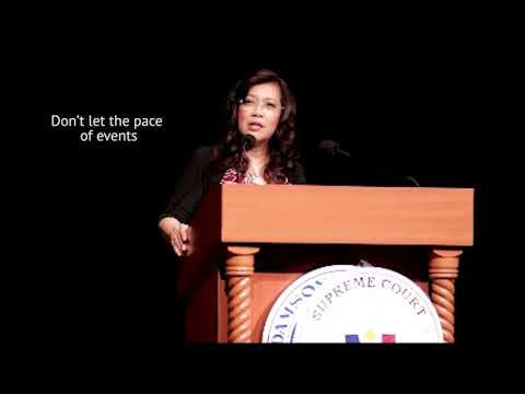Chief Justice Sereno - Excerpt from Adamson University Speech