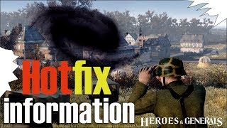 HOTfix information | Heroes and Generals | Тухлодырова дыра