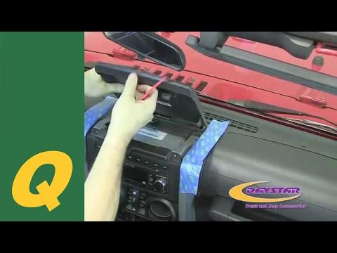 Daystar Upper Dash Panel For 2007-2010 Jeep Wrangler JK Install