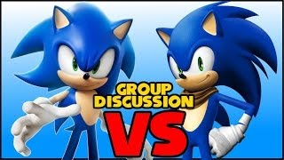 Modern Sonic vs Sonic Boom w/BluRacer7 and RadioactiveRahSNG