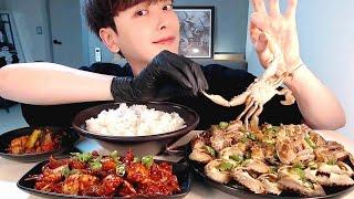 MUKBANG)여수돌게장/양념게장/돌산갓김치 먹방