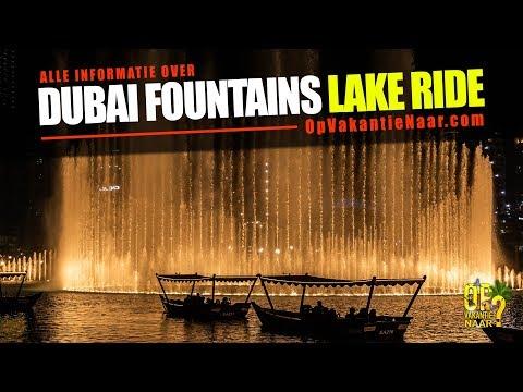 Dubai Fountain Lake Ride – 2019 – 4K
