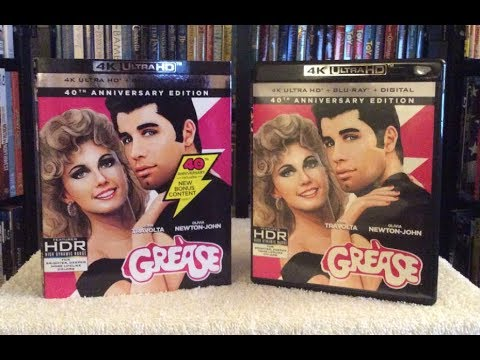 Grease 4K Ultra HD BLU RAY REVIEW + Unboxing