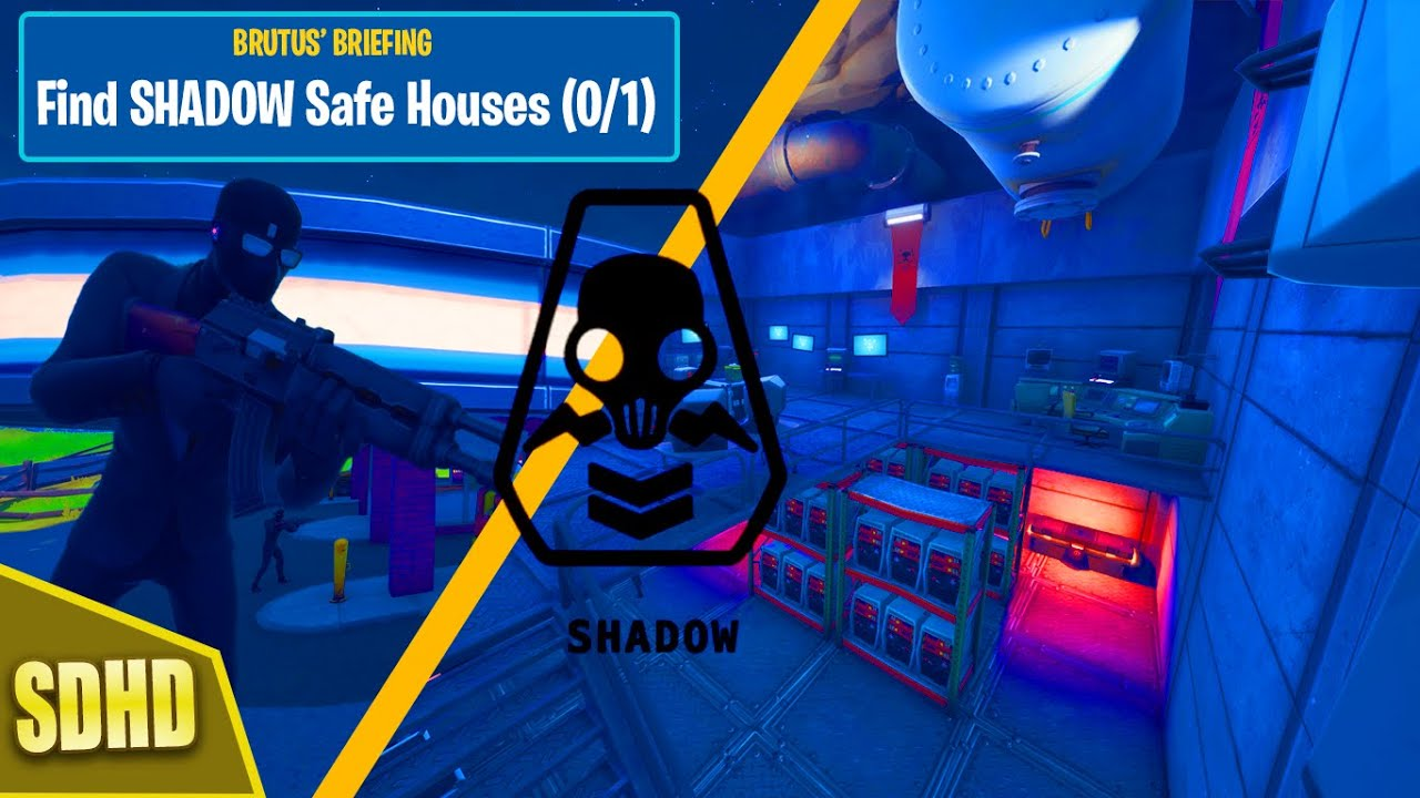 Find Shadow Safe Houses Brutus Briefing Challenge Fortnite