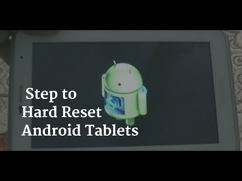 Differnt Hard reset/factory wipe methods for Tablet PC | My Tablet Guru