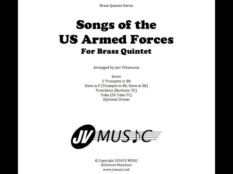 Songs of the Armed Forces Brass Quintet