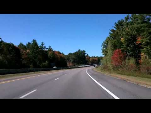 Portsmouth to Manchester, New Hampshire Drivelapse Dash Cam