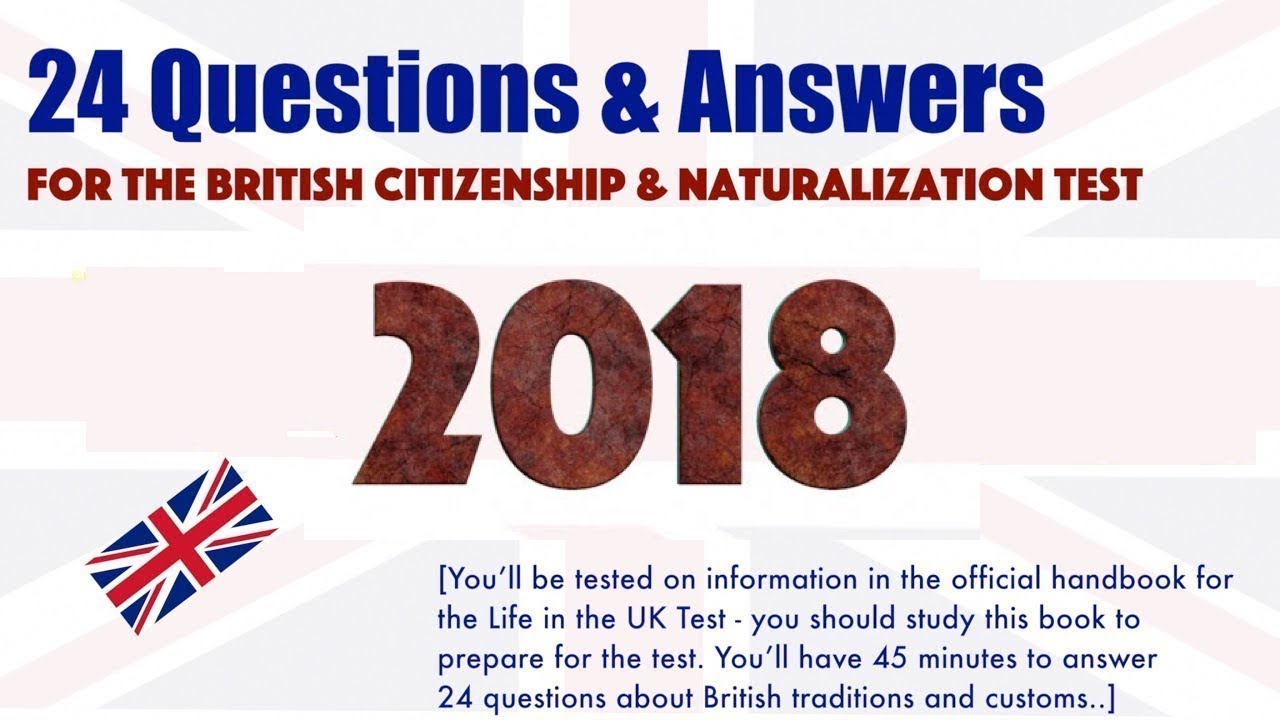2018 UK Citizenship and Naturalization Test - Official 24 ...