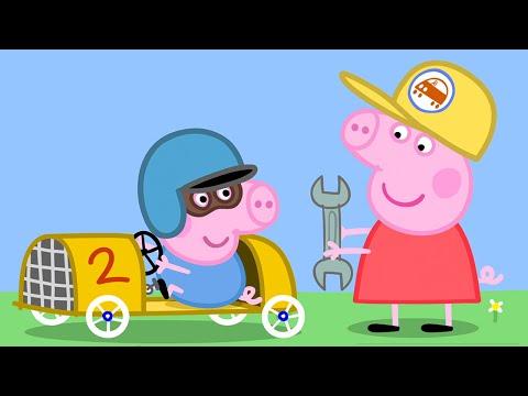 Свинка Пеппа на Pусском | водитель гоночной машины Джордж | Mультики