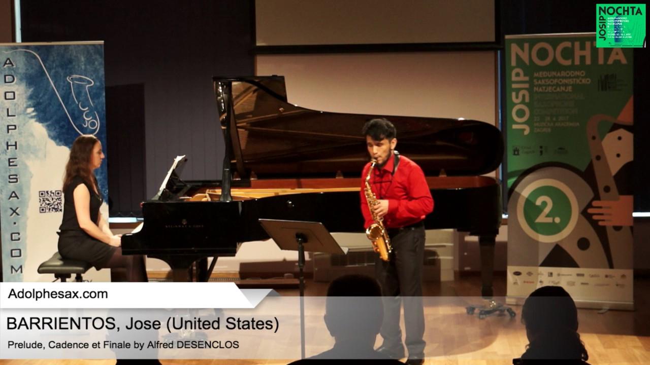 Prelude, Cadence et Finale by Alfred Desenclos  – BARRIENTOS, Jose (USA)