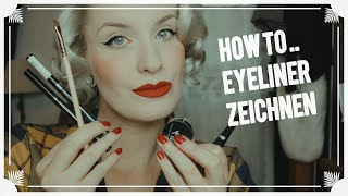 Winged Eyeliner Tutorial / Verscнiedene Liner + How to use