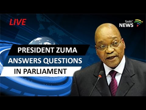President Zuma answers oral questions in Parliament