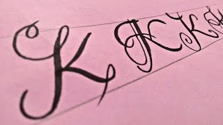 Letter K Calligraphy | How to write K alphabet in Fancey style | Stylish K | Designs of K Letter